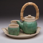 Functional ceramics are well represented. Here a Martha Kean tea set.