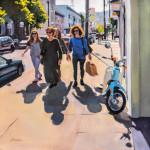 Shoppers, oil by Kaethe Bealer