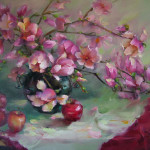 Fruitful Morning, oil by Lina Liu