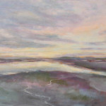 Clew Bay - Evening Sky, acrylic by Connie Ryan