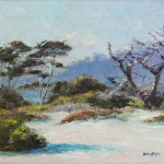 Carmel Cypress, oil by Karl Bostwick