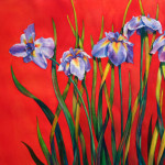 Japanese Irises, watercolor by Denise Miller
