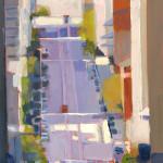 California Street, oil by Geoffrey Meredith