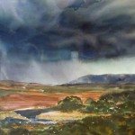 Gathering Storm, watercolor by Sue Johnson