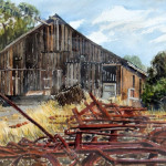 Williamson Ranch Barn, watercolor by Dan Kennedy