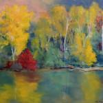 River Seine, pastel by Marjorie McMahon
