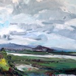 Meeker Clouds, Cerrito View, oil on canvas by Betsy Kendall
