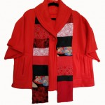 Red Fleece Coat by Denise Oyama Miller