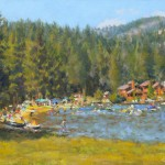 Donner Lake Beach &nbspoil by Kerima Swain