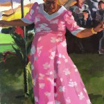 Auntie;s Hula, acrylic by Kaethe Bealer