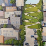Lombard Street #3, 36 x 24 oil by Geoffrey Meredith