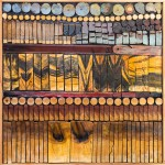 Josef Twirbutt, Composition #1D, mixed media on wood panel