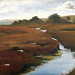 Meeker Slough, an oil by Sue Collins