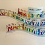 Fused glass photo holders from Gila Sagy