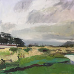 For Clearing, December Marsh, an Elizabeth Kendall oil on canvas